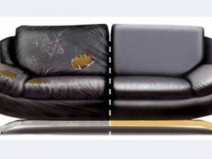 Перетяжка кожаного дивана в Щёлково