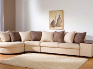 Перетяжка углового дивана на дому в Щёлково